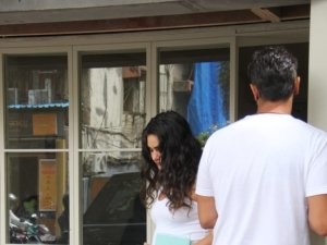 Arjun Rampal and Gabriella Demetriades spotted at Sequel, Mumbai