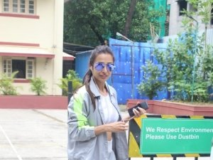 Malaika Arora and Amrita Arora snapped at I Think Fitness