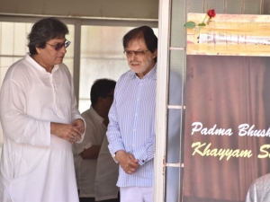 Celebs Pay Last Respect To Music Composer Khayyam