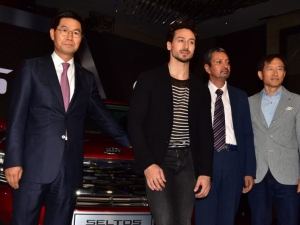 Tiger Shroff at KIA Car Launch