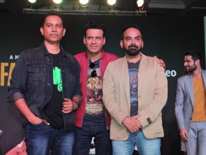 Manoj Bajpai, Priyamani and others at the launch of the Amazon Prime web series The Family Man
