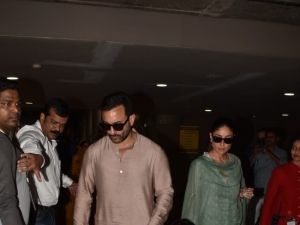 Saif Ali Khan, Taimur Ali Khan and Kareena Kapoor Khan snapped at Mumbai Airport