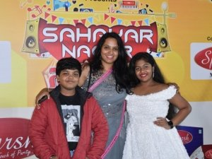 Kannada golden star ganesh Attended Sahakar Nagar Kids Fashion Show Hosted By Sassy Eleganza