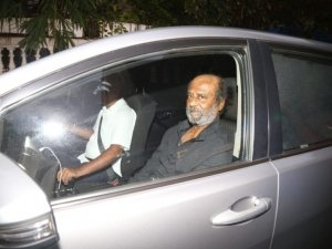 Rajinikanth snapped at a Dubbing Studio in Mumbai