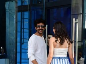 Kartik Aaryan and Ananya Panday spotted at Yauatcha in Mumbai