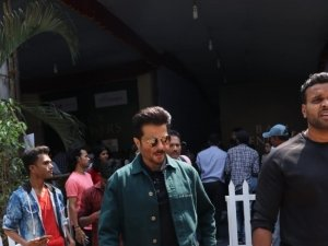 Anil Kapoor, Shilpa Shetty and Farah Khan spotted at Filmistan Studio in Mumbai