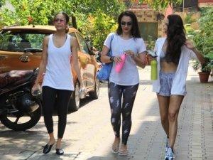 Malaika Arora, Amrita Arora and Seema Khan snapped at Diva Yoga Studio