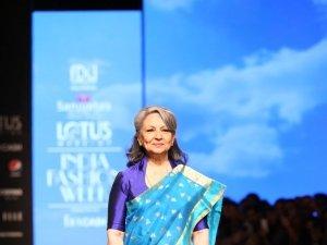 Sharmila Tagore Walks The Ramp At Lotus Fashion Week 2019