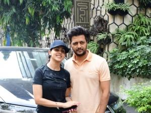 Riteish Deshmukh and Genelia D'souza snapped at gym in Mumbai