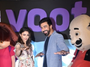 Soha Ali Khan and Aashish Chaudhary Snapped At Launch Of Voot Kids App