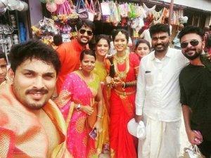 Agnisakshi Fame Ishitha Varsha and Murugananda Marriage Photos
