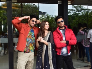 Siddharth Malhotra, Riteish Deshmukh and Tara Sutaria snapped promoting the film 'Marjaavaan'