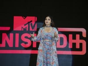 Bhumi Pednekar at the launch of MTV Nishedh