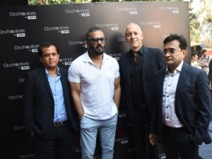 Sunil Shetty snapped at the launch of the GM Occhio store in Mumbai
