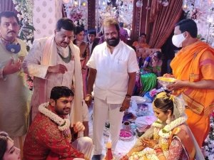 Nithiin And Shalini Wedding Photos