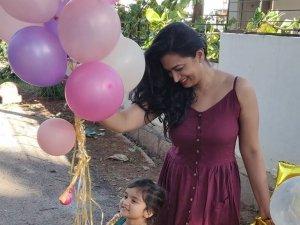 Shwetha Srivatsav Daughter 3rd Birthday Celebration