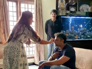 Darshan Celebrates Rakhi with his Friends Wife