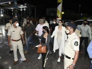 Deepika Padukone with Ranveer Singh at Dabolim Goa Airport