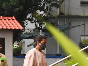 Jaya Saha Snapped at NCB Office