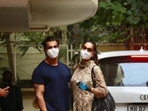 Karan Singh Grover And Bipasha Basu Spotted At Bandra
