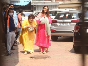 Kajal Aggarwal Snapped Leaving her Residence for her big day Wedding