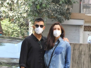 Virat Kohli and Anushka Sharma snapped at a clinic in Khar