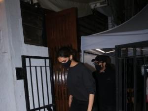 Deepika Padukone and Ranveer Singh spotted at Izumi in Bandra
