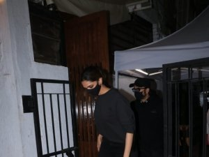 Deepika Padukone and Ranveer Singh spotted at Izumi in Bandra