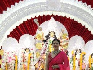 Kajol snapped for Durga Puja Celebration