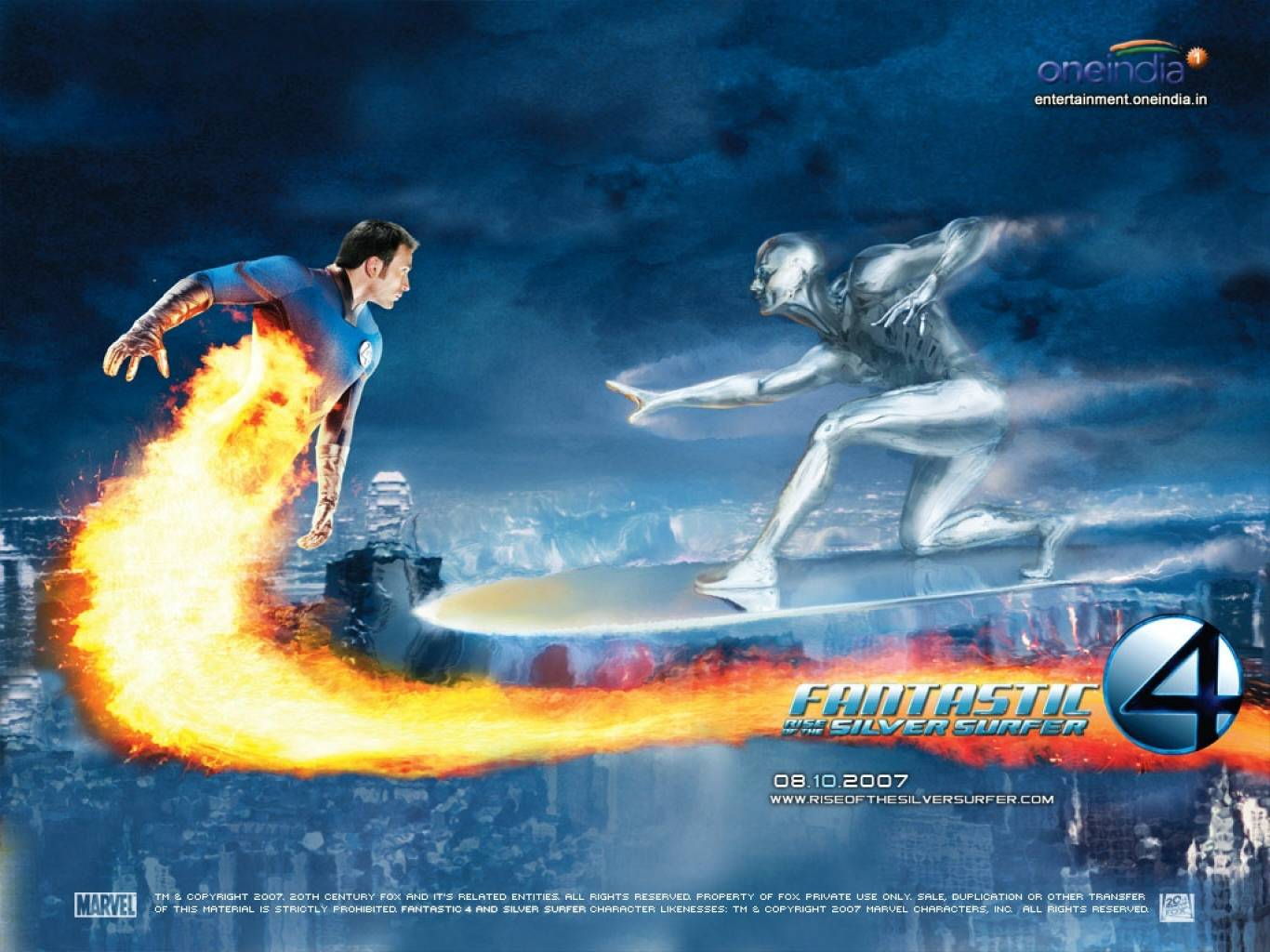 Fantastic Four Rise of The Silver Surfer Wallpapers